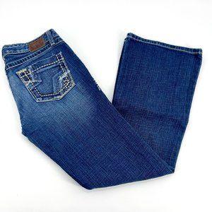 BKE Sabrina Distressed Stretch Bootcut Flare Jean